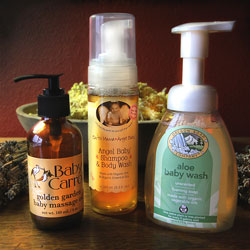 Mountain Rose Herbs Product Lines for all natural baby care.