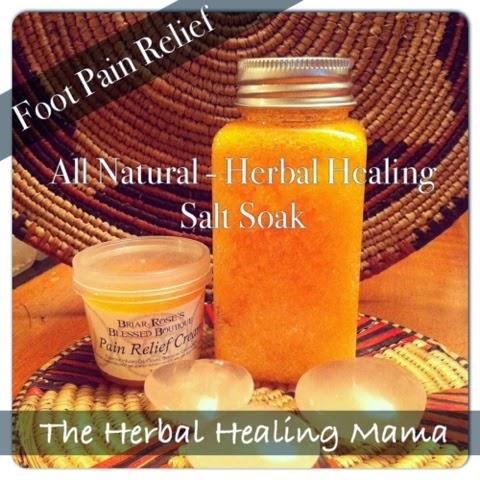 All natural herbal foot soak for pain