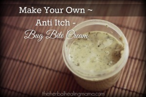 Make your own all natural bug bite relief cream.