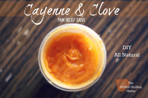 Cayenne & Clove DIY all Natural Pain Relief Salve hhm