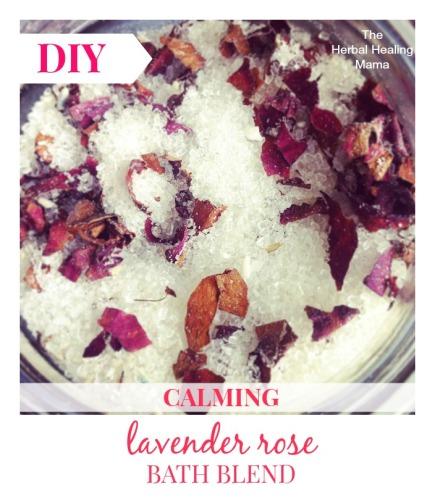 Lavender Rose Bath Blend