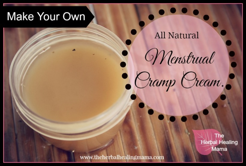 Menstrual Cramp Cream DIY All Natural