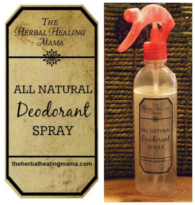 Natural Deodorant Spray! – The Herbal Healing Mama