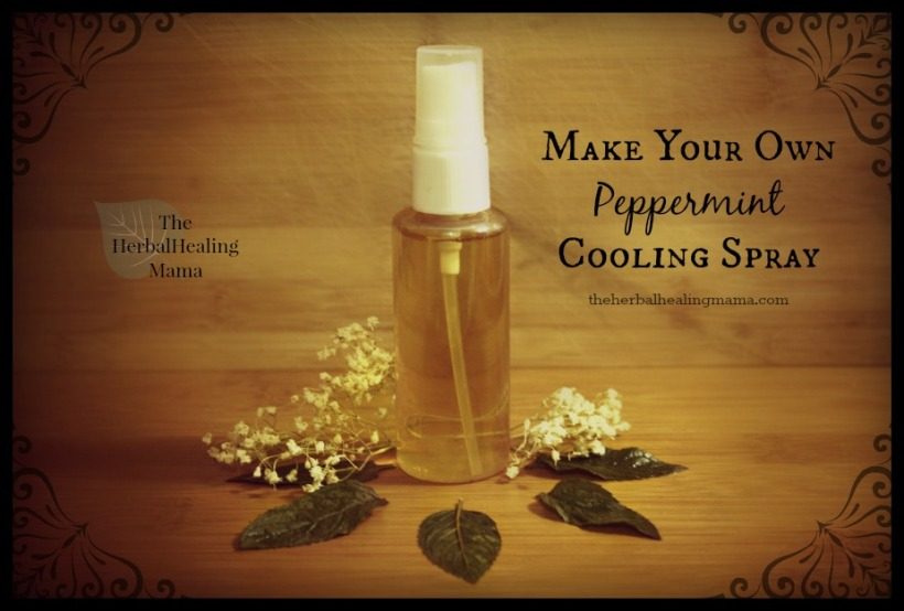 Peppermint Rosewater to cool the skin