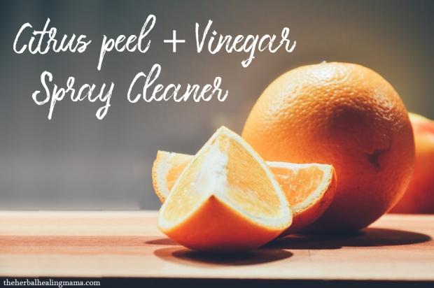 Citrus Peel Vinegar Spray Cleaner - DIY all natural