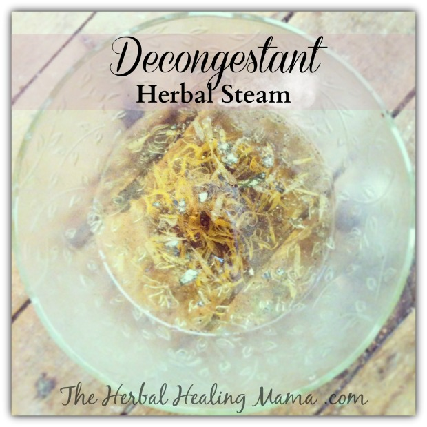decongestant herbal steam