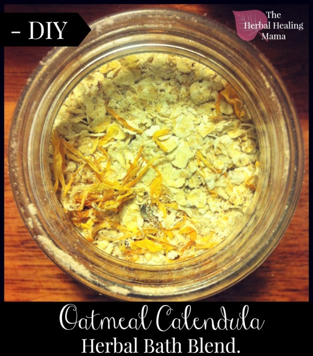 Calendula Oatmeal Herbal Bath Blend