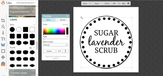 Create Labels on Picmonkey 10