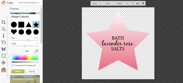 Create Labels on Picmonkey 14