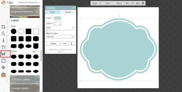 Create Labels on Picmonkey 4