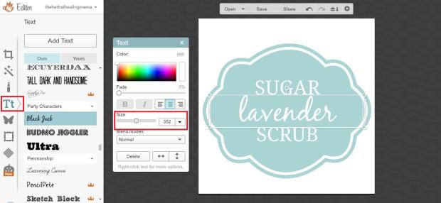 Create Labels on Picmonkey 5