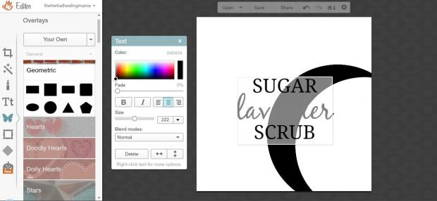 Create Labels on Picmonkey 8