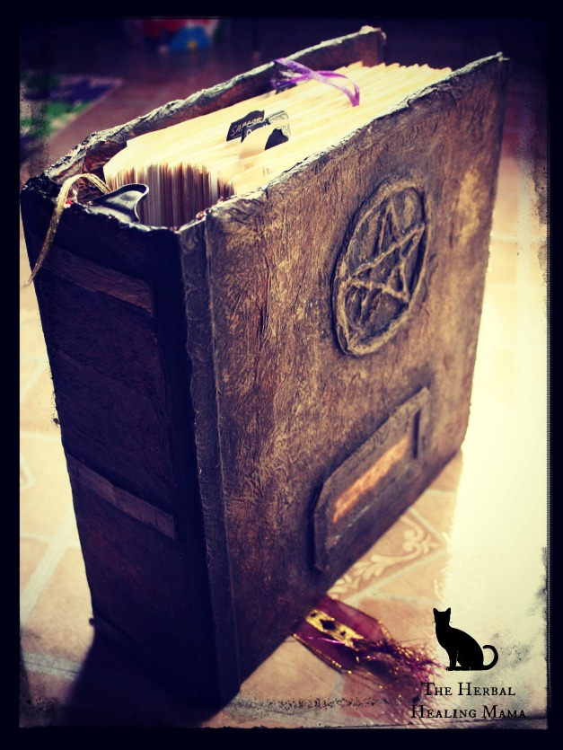 How To Make A Book Of Shadows Cover : Diy book of shadows the herbal healing mama