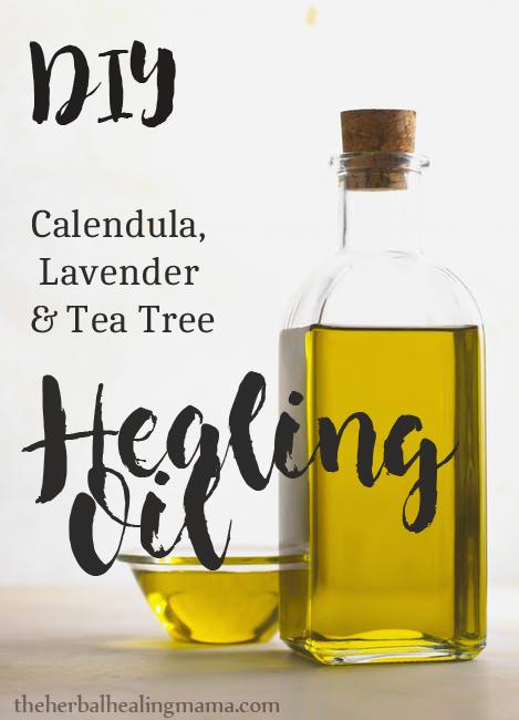 DIY Healing Oil - Calendula Lavender & Tea Tree
