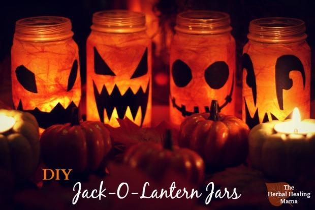 DIY Jack-O-Lantern Jars