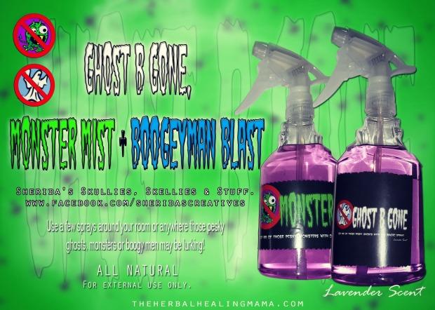 ghost b gone, monster mist, boogeyman blast