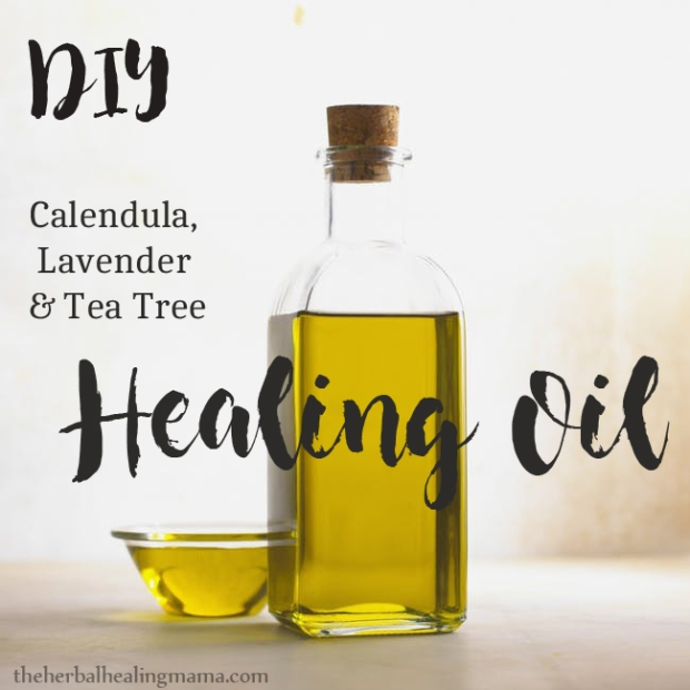 Healing Oil DIY with Tea Tree, Lavender & Calendula