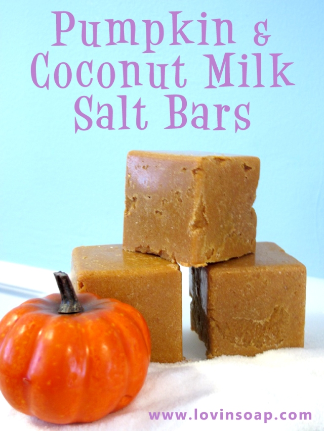 Pumpkin Salt Bar Soap DIY all natural