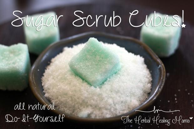 Sugar Scrub Cubes! ~ DIY all natural!