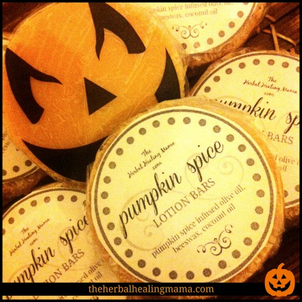 Pumpkin Spice Lotion Bars - The Herbal Healing Mama