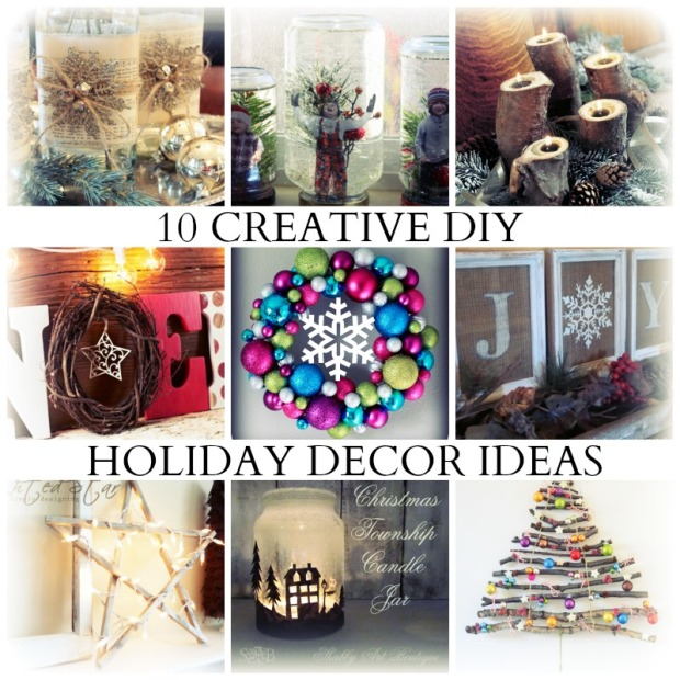 10 CREATIVE HOLIDAY DECOR IDEAS