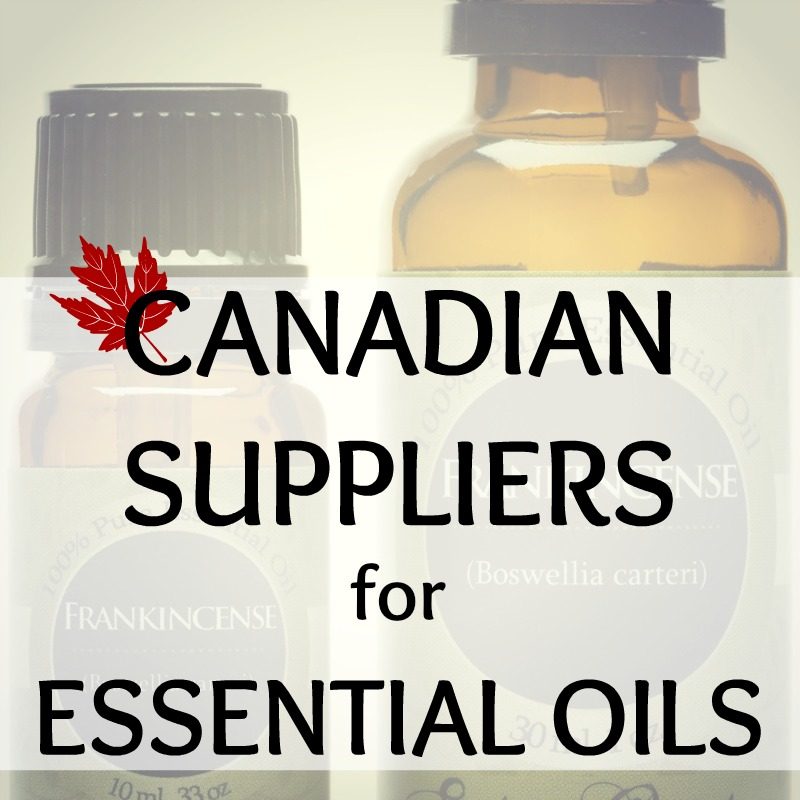 Canadian Suppliers for Essential Oils