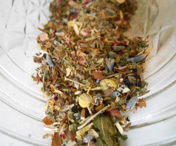 Herbal Tea Blend, Peaceful Dreams, Reiki Infused Herbal Tea, Hand Blended 1