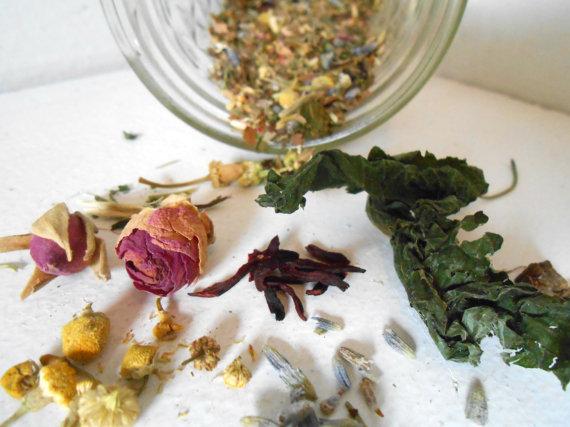 Herbal Tea Blend, Peaceful Dreams, Reiki Infused Herbal Tea, Hand Blended
