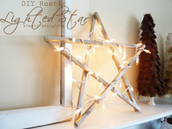 rustic lighted star