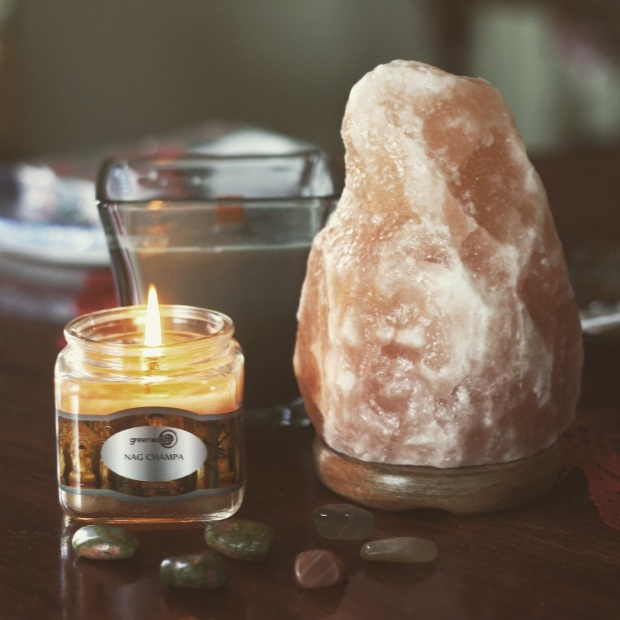 Salt Lamp & Crystals