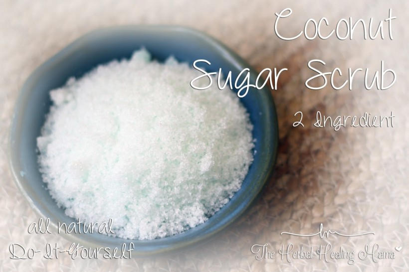Simple Coconut Sugar Scrub - 2 Ingredient - DIY All Natural