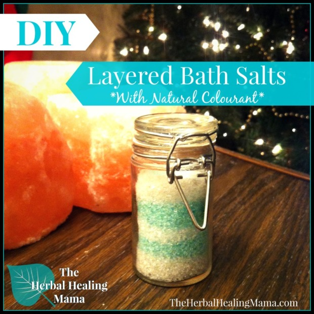 Layered Bath Salts with Natural Colourant