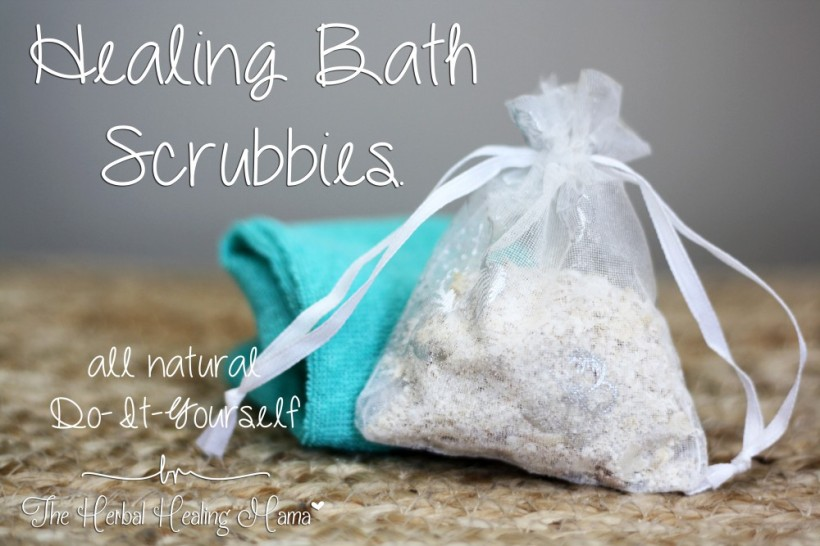 Healing Bath Scrubbies. DIY All Natural