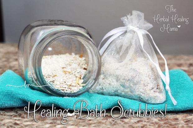 Healing Bath Scrubbies. DIY All Natural