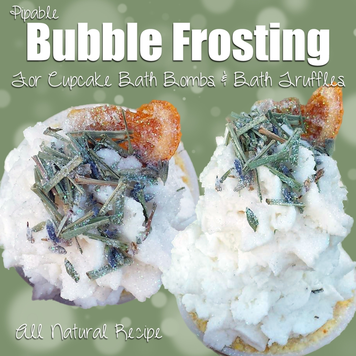 Recipe for Natural Bubble Frosting. (for bath bomb cupcakes)