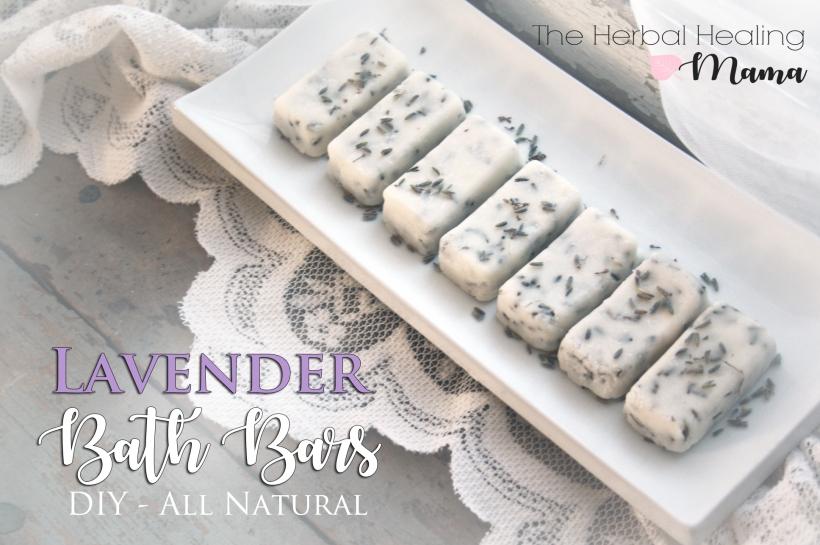 Natural Lavender Bath Bars - DIY