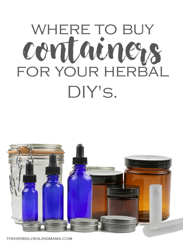 Where to buy Containers for your herbal DIY's